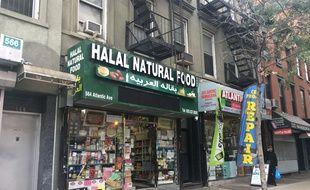 Une épicerie halal sur Atlantic Avenue à New York le 2 novembre 2017.