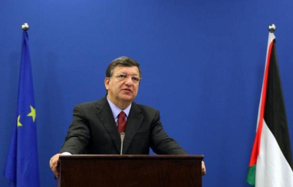 """Le président de la Commission européenne, José Manuel Barroso, a appelé dimanche à une relance des négociations israélo-palestiniennes, arguant que le processus de paix ne devait pas devenir """"orphelin du +Printemps arabe+"""". – Abbas Momani afp.com"""