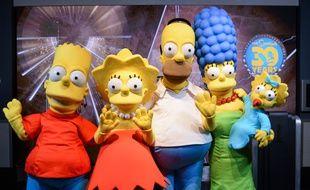 Au 30e anniversaire de la série « Les Simpson », le 17 décembre 2018 à l'Empirestate building.