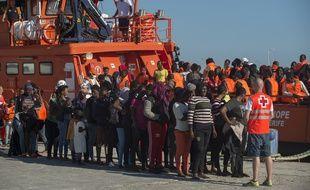 Les sauveteurs en mer espagnols ont secouru 675 migrants au cours du week-end entre le Maroc et l'Espagne. (Illustration)