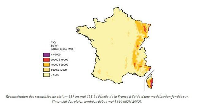 Retombées radioactives en France à la suite de la catastrophe de Tchernobyl.