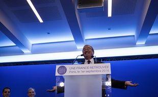 Hervé Mariton, candidat à la primaire à droite, le 1er septembre au siège du parti Les Républicains à Paris.