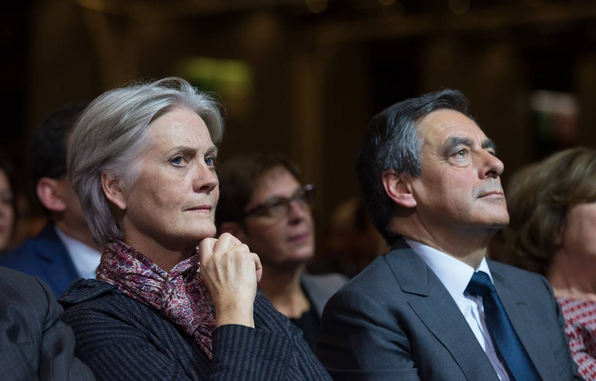 Penelope et François Fillon, le 25 novembre 2016 à Paris.  – SIPA