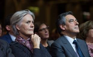 Penelope and Francois Fillon. Francois Fillon, candidate for the right-wing primaries ahead of the French 2017 presidential election, delivers a speech during a campaign rally Porte de Versailles Paris, FRANCE-25/11/2016//JACQUESWITT_Fillon037/Credit:WITT/SIPA/1611252221