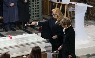 Sylvie Vartan aux obsèques de Johnny Hallyday le 9 décembre 2017 à Paris