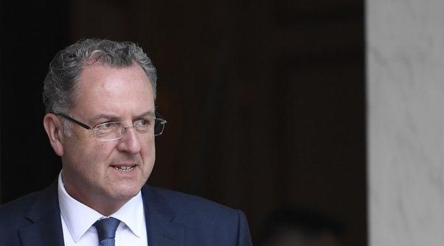 Le ministre de la Cohésion des territoires Richard Ferrand, le 31 mai 2017 à l'Elysée. – STEPHANE DE SAKUTIN / AFP