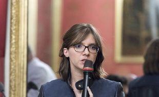Aurore Bergé, porte-parole du groupe LREM à l'Assemblée à Paris, le 25 juin 2018.
