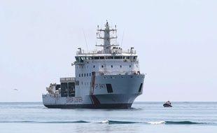 Le navire des gardes côte italiens le Diciotti a accosté en Sicile lundi 20 août 2018.