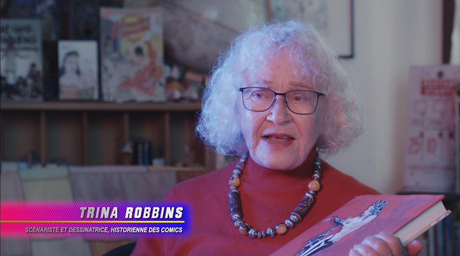 Trina Robbins, légende du comics, militante et historienne, est l'intervenante piquante du documentaire « Le Règne des super-héroïnes »
