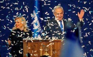 Benjamin Netanyahou à Tel Aviv, le 2 mars 2020