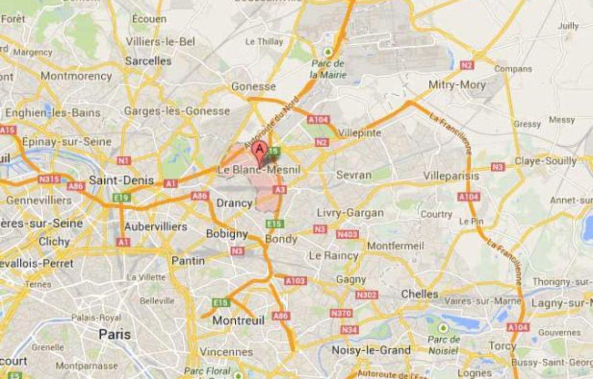 Google map du Blanc-Mesnil. – Google map