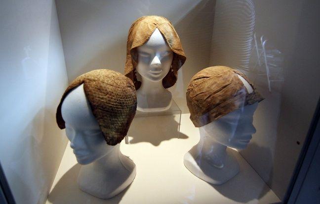 Les trois coiffes portées par Louise de Quengo ont été nettoyées et reconstituées.
