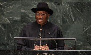Le président nigérian Goodluck Jonathan, le 24 septembre 2014 à New York