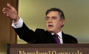 Gordon Brown lors de la conférence de presse sur le remaniement de son gouvernement le 5 juin 2009