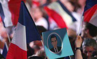 Au meeting de François Fillon, à Paris, le 9 avril 2017.