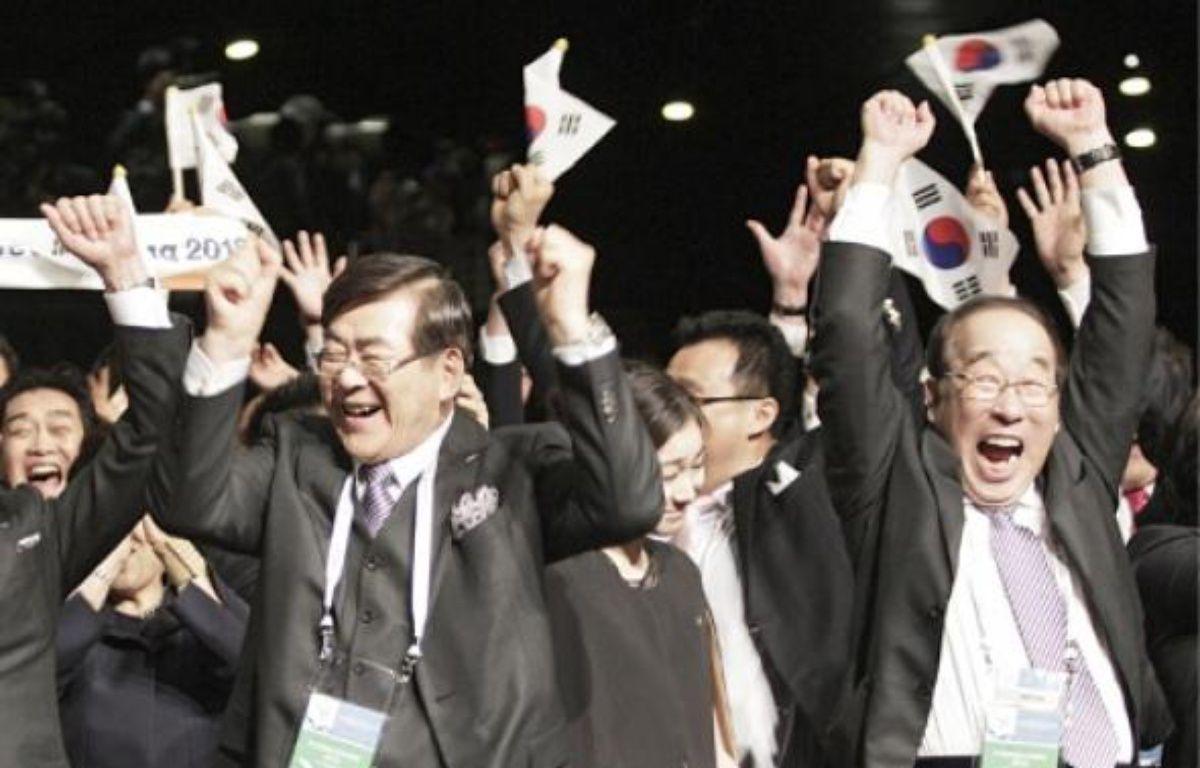 Les Sud-Coréens ont remporté le vote du CIO dès le premier tour. –  R. WARD / REUTERS