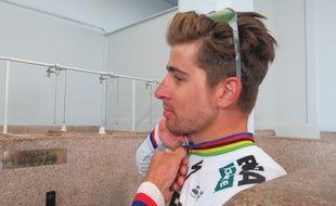 Peter Sagan dans les douches de Paris-Roubaix