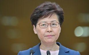 Le cheffe du gouvernement de Hong Kong, Carrie Lam, lors d'une conférence de presse le 9 juillet 2019.