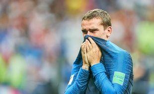 Antoine Griezmann en larmes après la victoire des Bleus en finale de la Coupe du Monde.