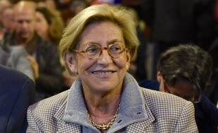 Isabelle Balkany lors d'un meeting de Valérie Pécresse à Paris en 2015.