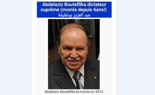 A l'occasion de l'anniversaire du président algérien, Abdelaziz Bouteflika, un internaute a modifié sa page Wikipedia en français.