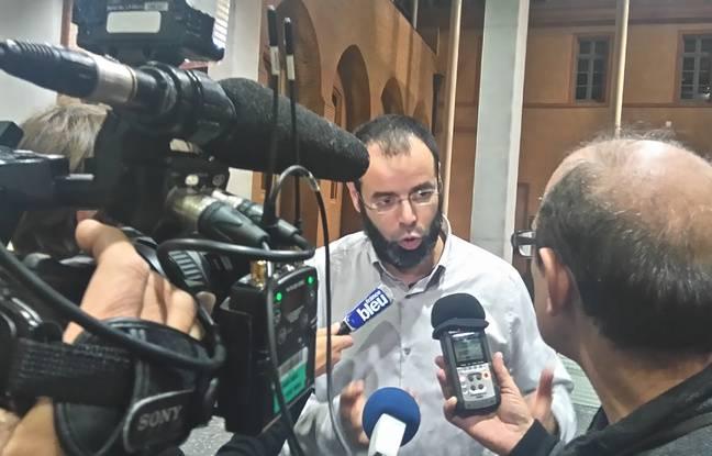 AbdelFattah Rahhaoui, le directeur de l'école musulmane Al-Badr, au Palais de justice de Toulouse le 17 novembre 2016 lors de son procès.