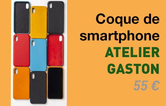 Coque de smartphone en cuir, Atelier Gaston