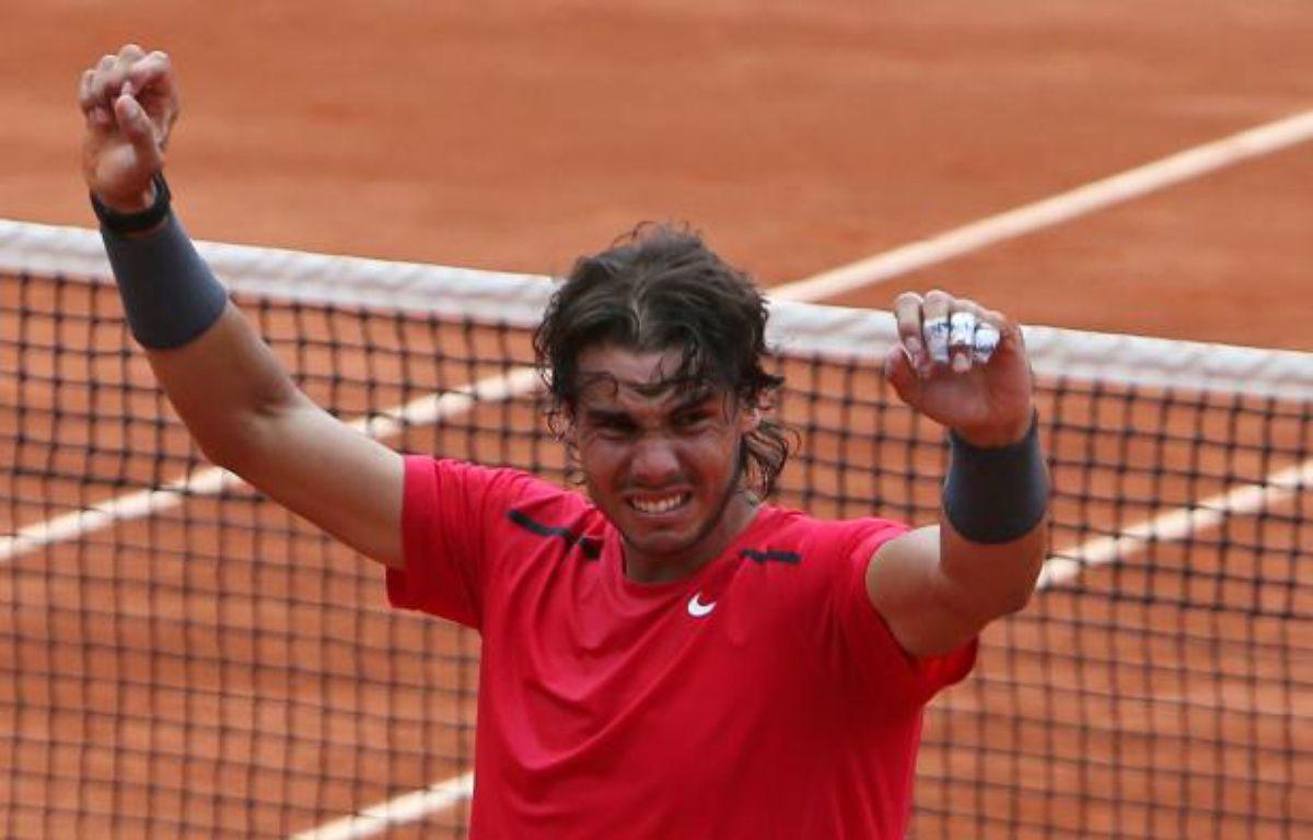 Le joueur espagnol, Rafael Nadal, lors de sa victoire à Roland-Garros, le 11 juin 2012. – N.Elias/REUTERS