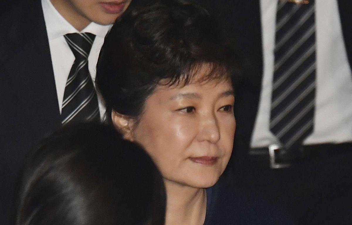 L'ex-présidente Park Geun-Hye lors de son audition par la justice, le 30 mars 2017.  – Song Kyong-Seok/AP/SIPA