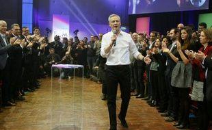 Bruno Le Maire lors d'un meeting de campagne à Saint-Denis, le 5 mars 2016