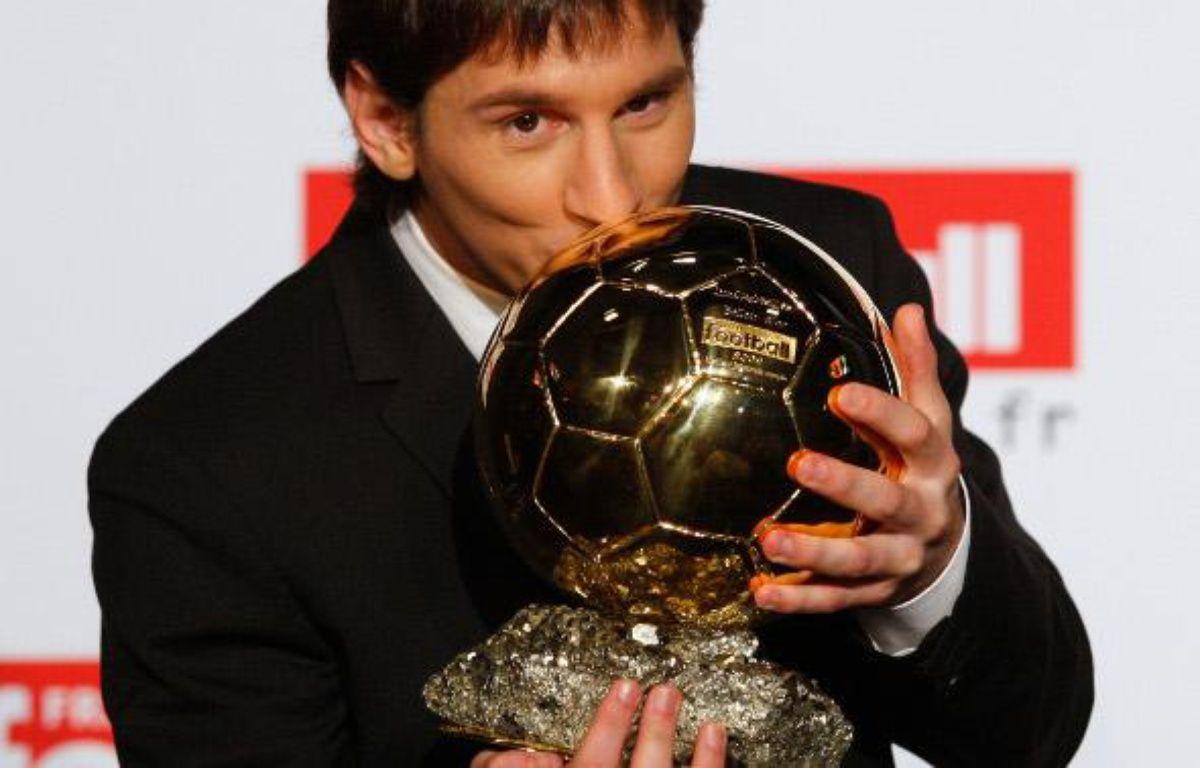 Lionel Messi, élu Ballon d'Or 2009 – REUTERS/Benoit Tessier