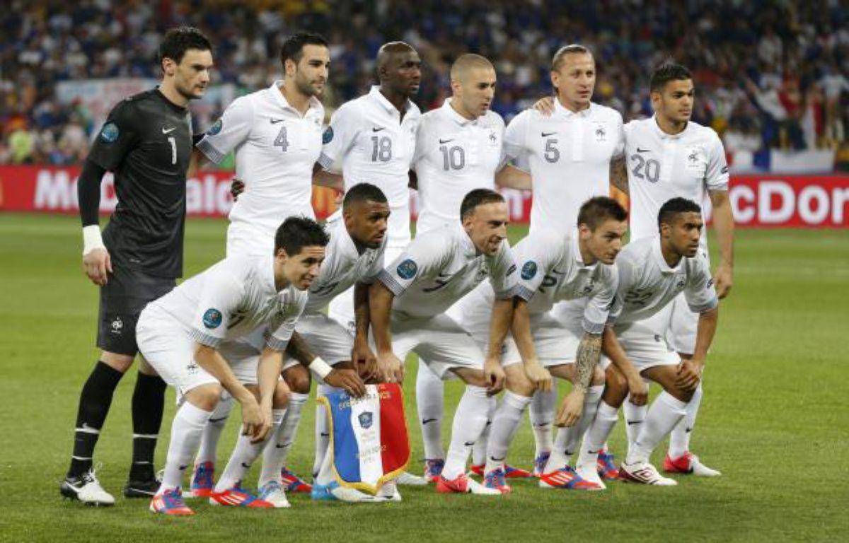Les joueurs de l'équipe de France, lors de leur match à l'Euro contre la Suède, le 19 juin 2012 à Kiev. – REUTERS