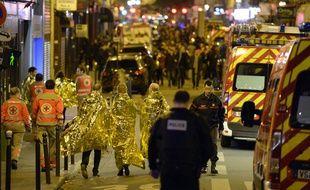Rue Oberkampf, à Paris, dans la nuit du 13 au 14 novembre 2015.