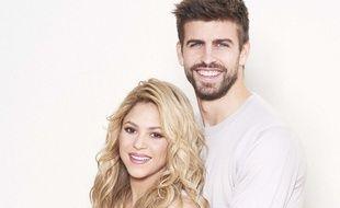 Shakira et son compagnon Gerard Pique posent pour annoncer leur baby shower pour Unicef.
