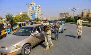 La police à un check-point à Herat en Afghanistan, le 27 septembre 2019.