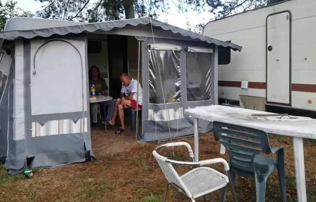 Une caravane prêtée par le propriétaire du camping le moins cher de France pour le même prix, 5 euros par personne en France-Comté.