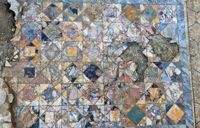 Des décors remarquables ont été retrouvés par les archéologues de l'Inrap