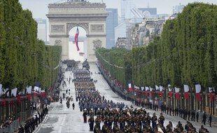 Défilé militaire sur les Champs-Elysées le 14 juillet 2021.