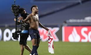 Neymar après la victoire du PSG, le 18 août 2020.