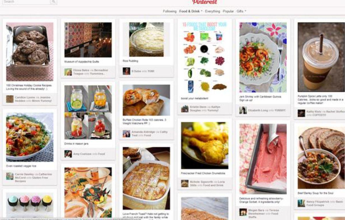 Capture d'écran du site de partage de photos Pinterest. – CAPTURE D'ECRAN/20MINUTES.FR
