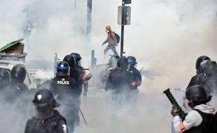 La manifestation des «Gilets jaunes» a encore débouché sur des violences à Toulouse, le 8 décembre 2018.