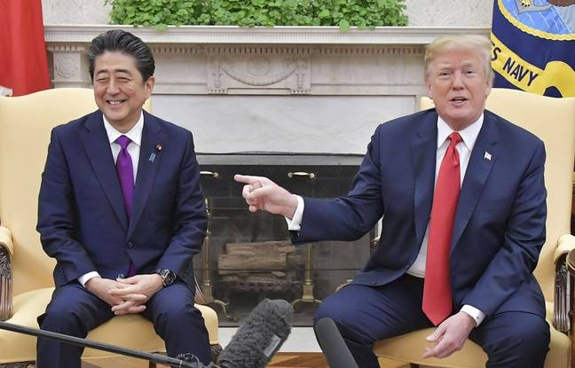 Pour être sûr qu'il comprenne tout, Shinzo Abe a préparé un dessin simpliste pour Donald Trump