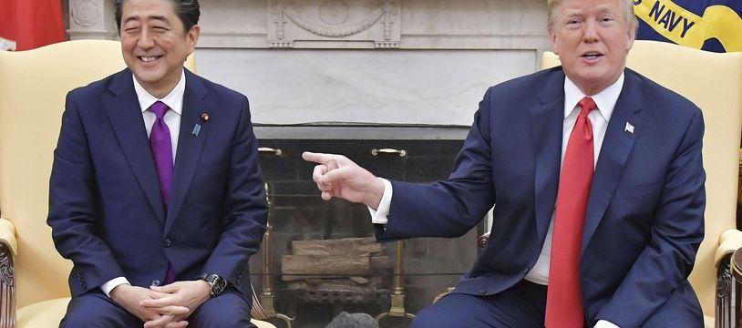 Donald Trump et le Premier ministre japonais Shinzo Abe à la Maison Blance en juin 2018.