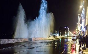 La tempête Imogen souffle à Saint-Malo, le 9 février 2016.