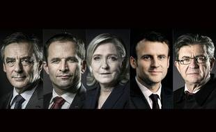 Jean-Luc Mélenchon, Emmanuel Macron, Benoît Hamon, François Fillon et Marine Le Pen participeront lundi 20 mars 2017 au débat sur TF1.