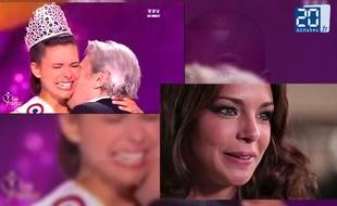 Capture d'écran du zapping Miss France.