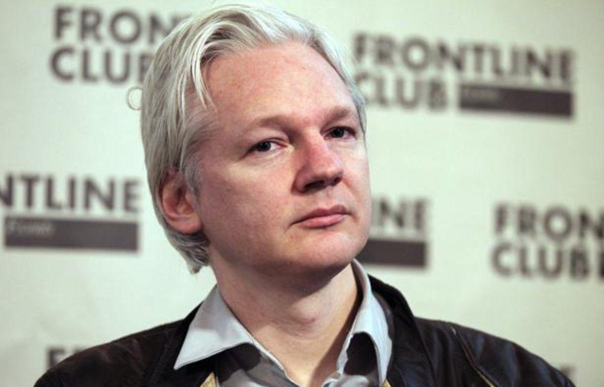 Le fondateur de WikiLeaks, Julian Assange, lors d'une conférence de presse à Londres, le 27 février 2012. – F.O'REILLY / REUTERS