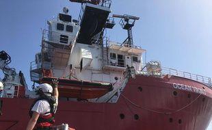 Le navire Ocean Viking au large de Marseille, le 8 août 2019.