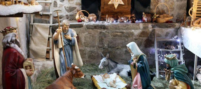 Crèche de Noël: illustration