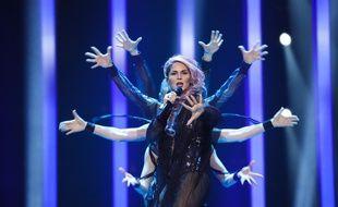 Lea Sirk représentante de la Slovénie à l'Eurovision 2018.